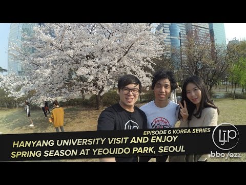 [Korea VLOG #6] Hanyang University Visit And Enjoy Spring Season at Yeouido Park, Seoul