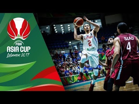 Philippines vs. Qatar - Game Highlights in Slow Motion (VIDEO) FIBA Asia Cup 2017