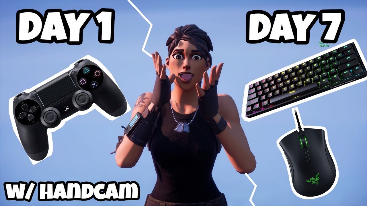 Download 1 Week Progression from PS4 to PC w/HANDCAM (Controller to Mouse and Keyboard) Fortnite