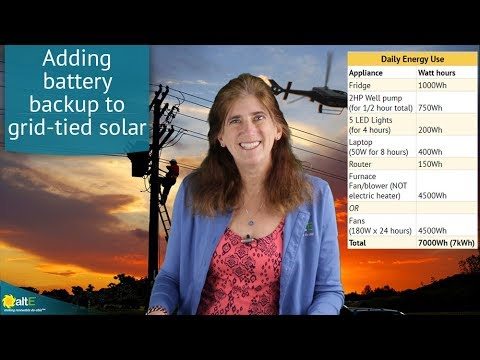 Adding batteries to grid tied solar