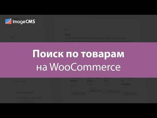Поиск по товарам на WooCommerce
