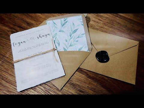 Super easy DIY rustic wedding invitations!