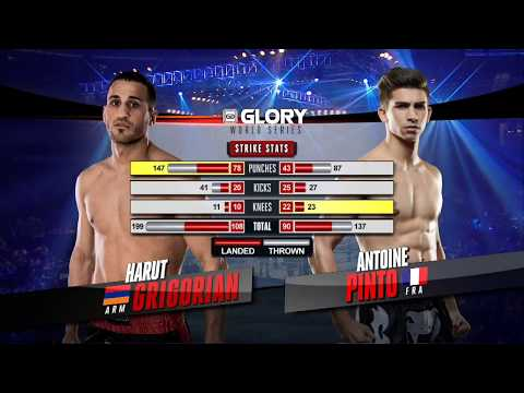 FULL MATCH - Antoine Pinto vs. Harut Grigorian - Tournament Finals: GLORY 44 Chicago