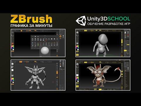 Создание персонажей в Zbrush: 3D Скульптинг с нуля. Интерфейс и основы. Урок #1