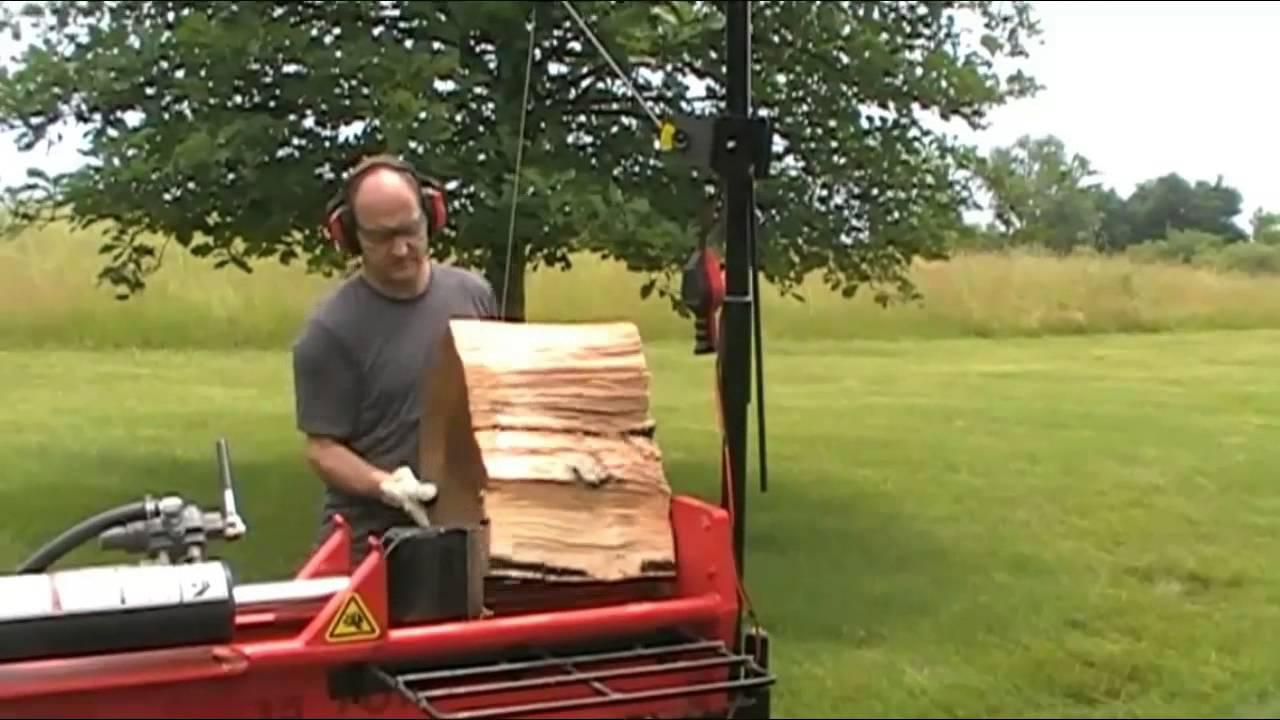 demonstration of gorillabac log splitter lift arm equipment