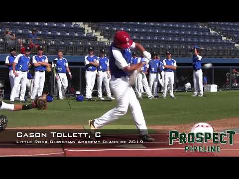 Cason Tollett Prospect Video, C, Little Rock Christian Academy Class of 2019