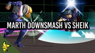 [Marth] Downsmash Vs Sheik Tutorial - Super Smash Bros. Melee