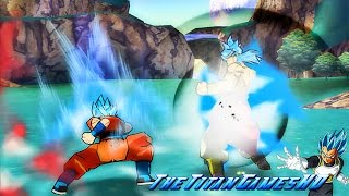 Dragon Ball Z Shin Budokai 2 - Fukkatsu No F - Goku Ssj God Blue Vs Broly Ssj God