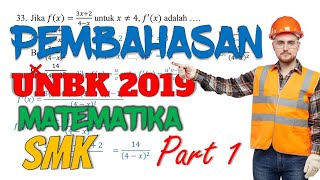 Pembahasan Unbk Matematika Smk 2019 Part 1