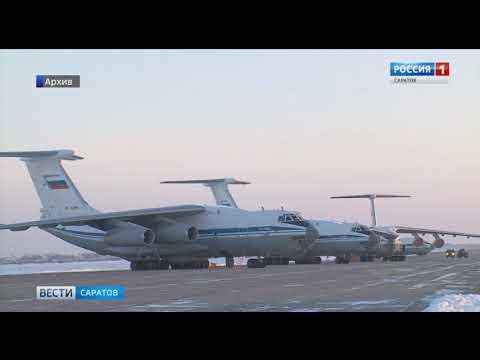 """Энгельсские бомбардировщики Ту-95 нанесли условный ракетный удар по наземным объектам """"противника"""""""