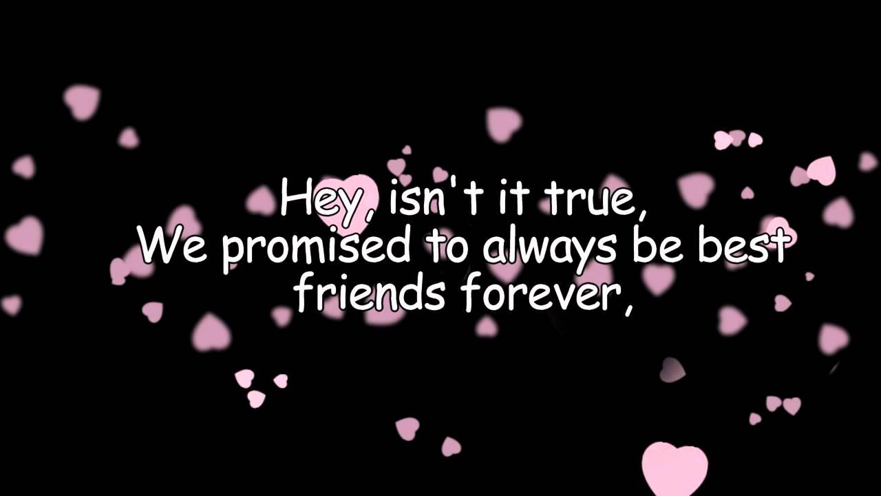 Best Friends Forever Ksm With Lyrics Youtube