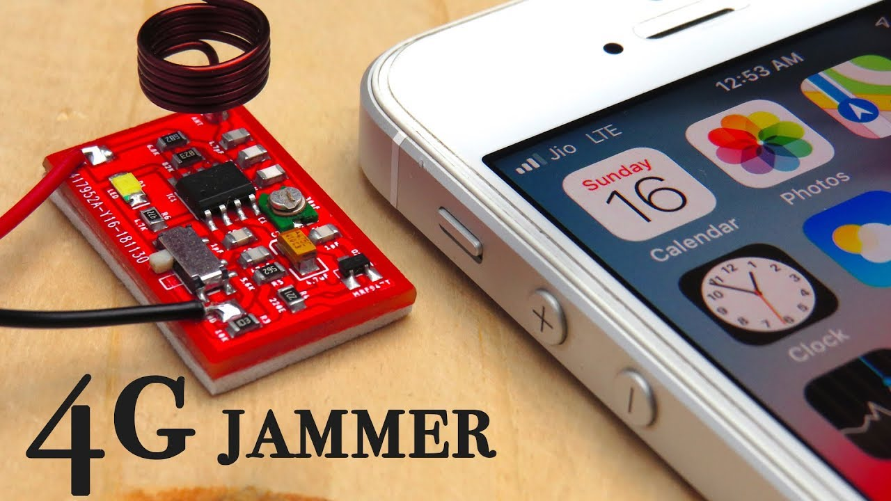 how to make 4g lte cell phone signal jammer [ 1280 x 720 Pixel ]