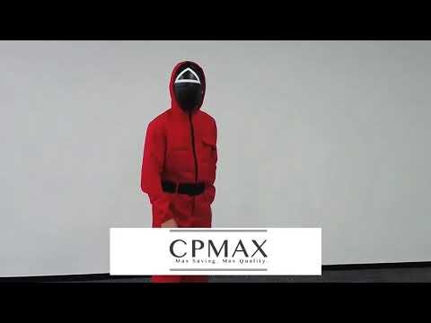 CPMAX 魷魚游戲面具 面罩 cosplay道具 韓國電影 李政宰同款面具 紀念品 魷魚游戲管理員同款服 TOY39