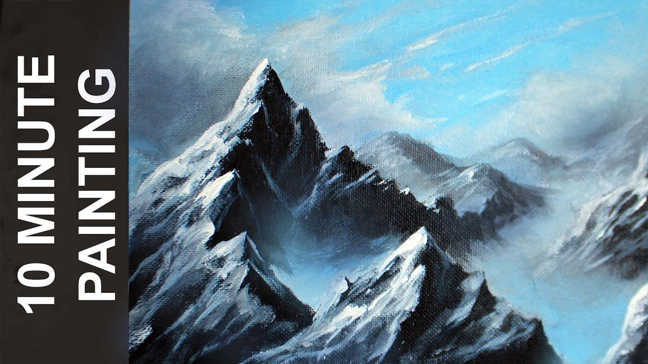 Painting A Misty Mountain Landscape With Acrylics In 10