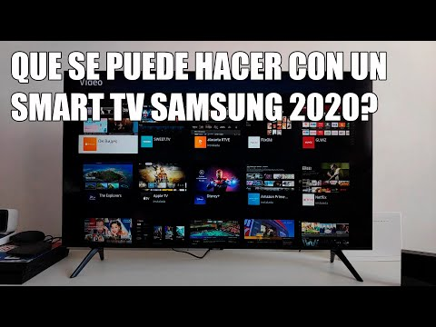 Que se puede hacer con un Smart TV Samsung 2020?