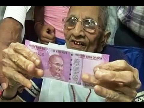 PM Modi's mother Heeraben exchanges demonetised currency worth Rs 4,500 in bank