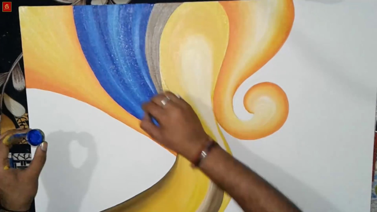 Creative acrylic painting techniques on canvas g for Creative watercolor painting techniques