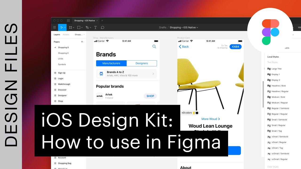iOS Design Kit: How to use in Figma
