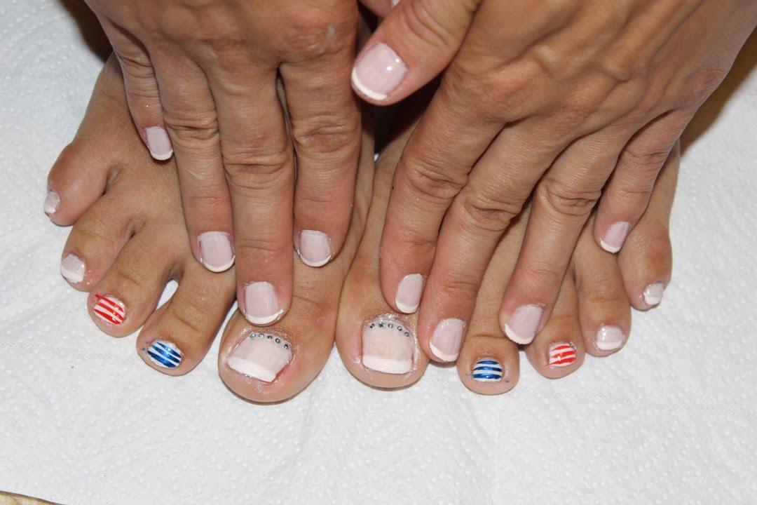 Как накрасить ногти гель лаком на ногах