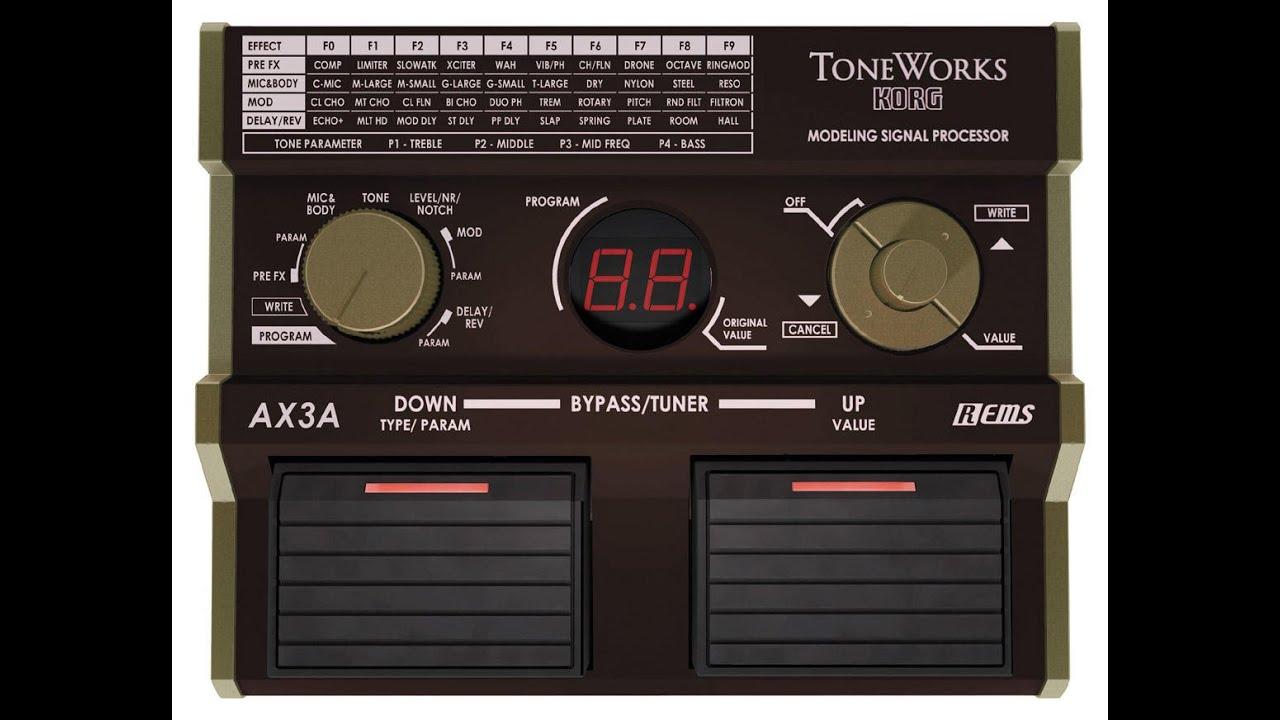 korg ax3a acoustic guitar pedal making acid bass sounds youtube. Black Bedroom Furniture Sets. Home Design Ideas