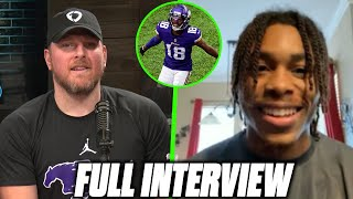 Pat McAfee & Justin Jefferson Talk His Standout Rookie Season.