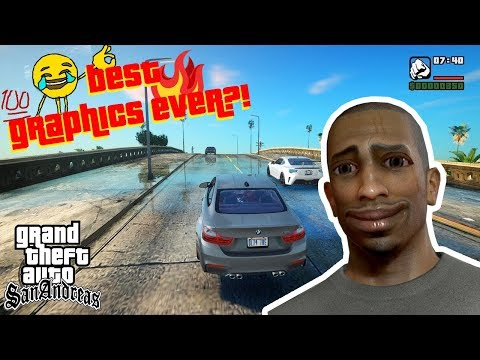GTA San Andreas INCREDIBLE GRAPHICS Mod OMG BEST Remastered Graphics