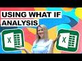 Using 'What IF' Analysis in Excel