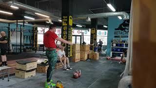 Тренировка толчка гирь Марков Иван гиревой спорт