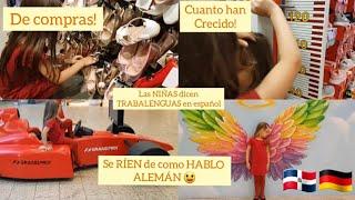 DOCUMENTADO MI VIDA EN ALEMANIA- Amy y Mia enseñan alemán- trabalenguas en español - En la Tienda.