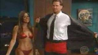 brooke burke on late late show in bikini