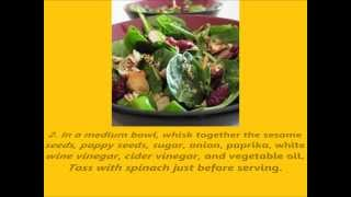 Recipe Jamie's Cranberry Spinach Salad