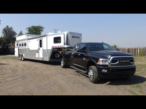 2017 Ram 3500 Limited Review Towing A Lq Cimarron Horse Trailer Part 1