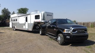 2017 Ram 3500 Limited review towing a LQ Cimarron horse trailer part 1