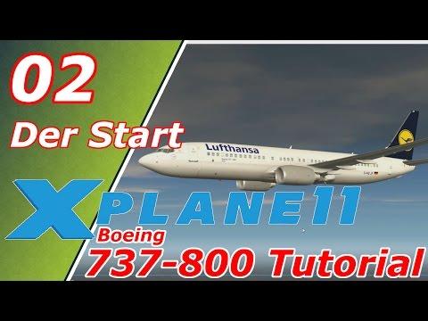 X-Plane 11 ✈️| Boeing 737-800 | Tutorial #02 | Der Start / FMC | Deutsch German