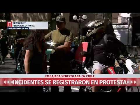 Incidentes en protesta de partidarios de Maduro en embajada de Venezuela en Chile