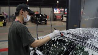 폭염속 BMW M235i '셀프세차' 날씨 이게 맞아?…