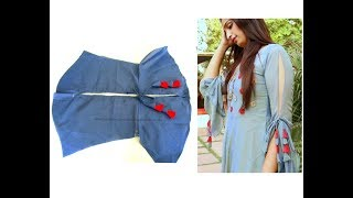 Amazing Sleeves Pattern with Tassels for Churidar /Kurti/Tops-Easy Making at home | Step by Step