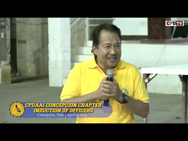 CPUAAI Concepcion Chapter Induction of Officers