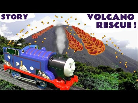 Thomas and Friends Volcano Rescue Episode Thomas Y Sus Amigos | Real Steam Thomas Toy Unboxing