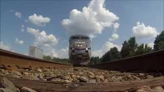 80m.p.h. Amtrak Train Runs Over GoPro