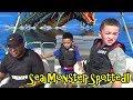 SEA MONSTER ATTACKS POLICE BOAT!!!