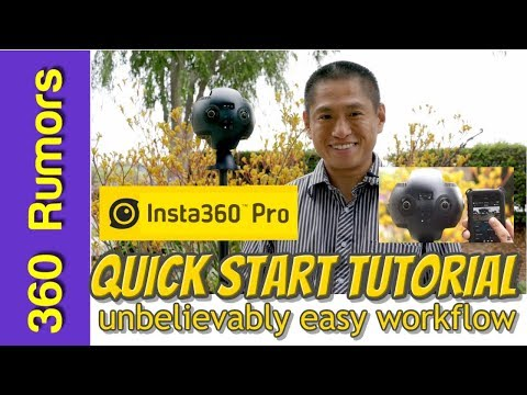 Insta360 Pro quick start guide / tutorial / workflow: it's unbelievably easy to shoot and stitch!