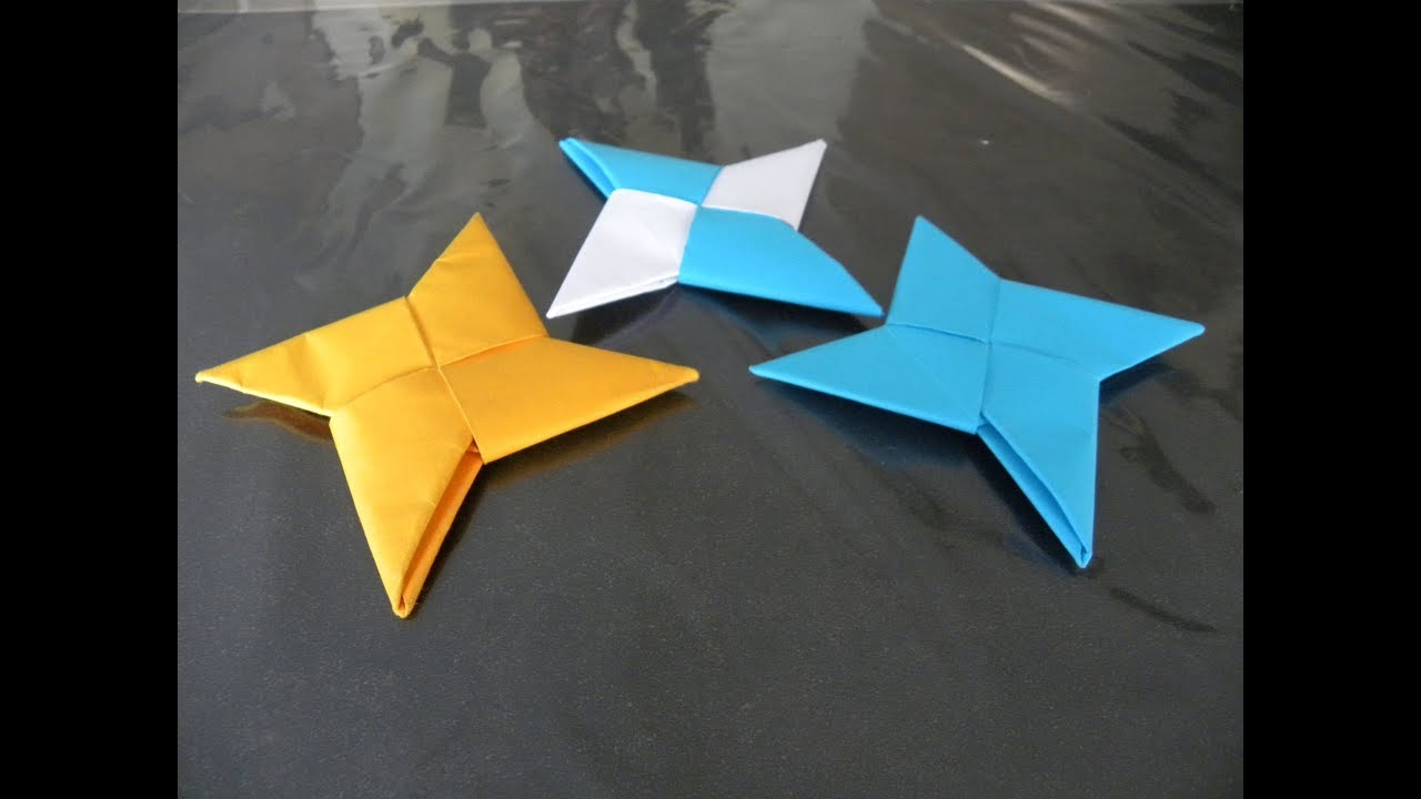 Comment Faire Un Shuriken En Papier Tutoriel En Français Youtube