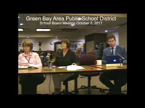 Green Bay Area Public School District Board of Education Meeting: 10/2/17