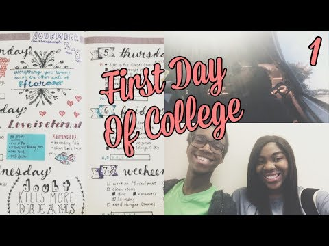 COLLEGE VLOG #1: FIRST DAY OF COLLEGE