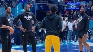 Zaire Wade learning some new moves from James Harden & LeBron
