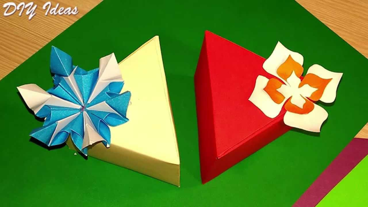 DIY Easy And Cute Triangular Box ONE Piece Of Paper NO Template Gift In 5 Minutes