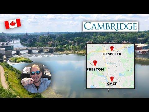 Cambridge Ontario Downtown Drive: Preston, Galt And Hespeler