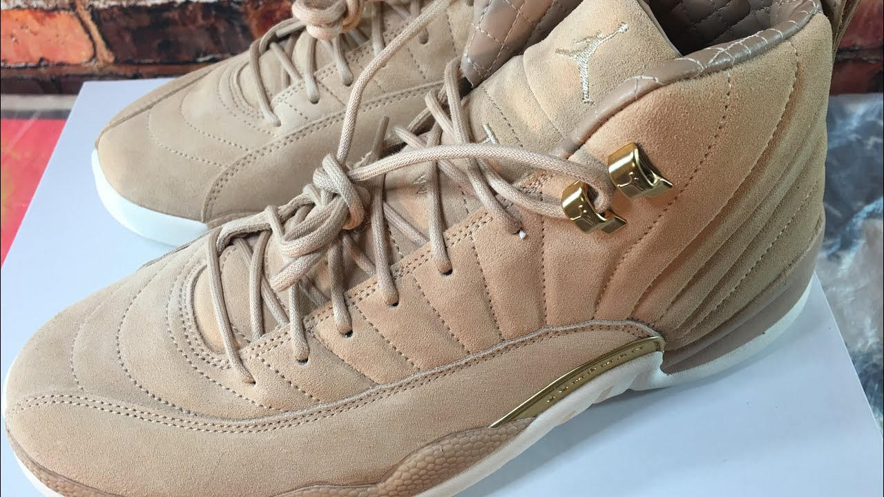 095a9f760f1c Air Jordan Retro 12 Vachetta suede Leather hints inside collar(In hand  Review)