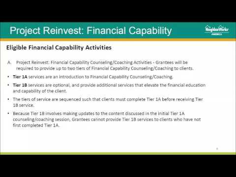 Project Reinvest: Financial Capability applicant webinar recording